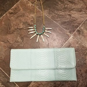 Handbags - Clutch/necklace combo